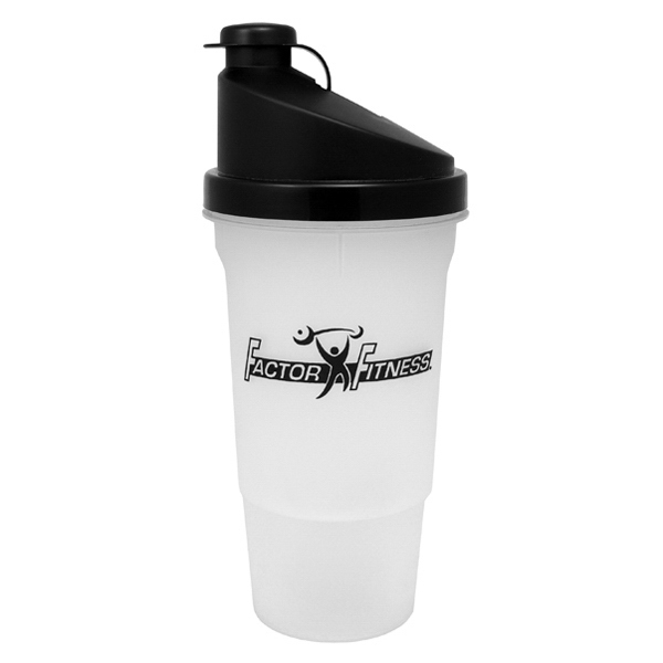 Recyclable 20 Oz Shaker Bottle Comes With Drink-thru Cap And Removable Strainer Photo