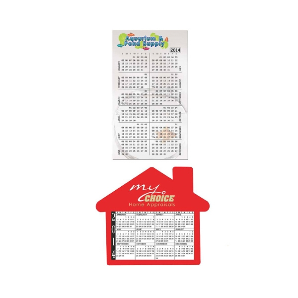 Small, Medium and House Calendars Magnet