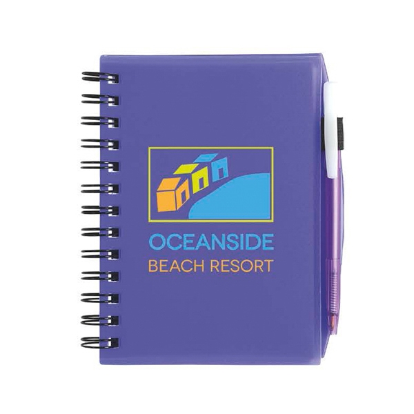 Plastic Cover Notebook with Matching BIC (R) Media Clic (TM)
