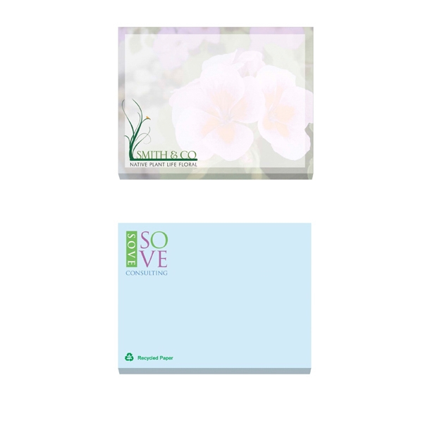"Ecolutions (r) - 25 Sheets - Adhesive Notepad, 4"" X 3"". Contains 30% Post-consumer Recycled Fiber Photo"