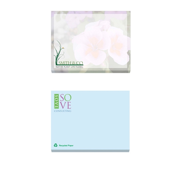 "Ecolutions (r) - 50 Sheets - Adhesive Notepad, 4"" X 3"". Contains 30% Post-consumer Recycled Fiber Photo"