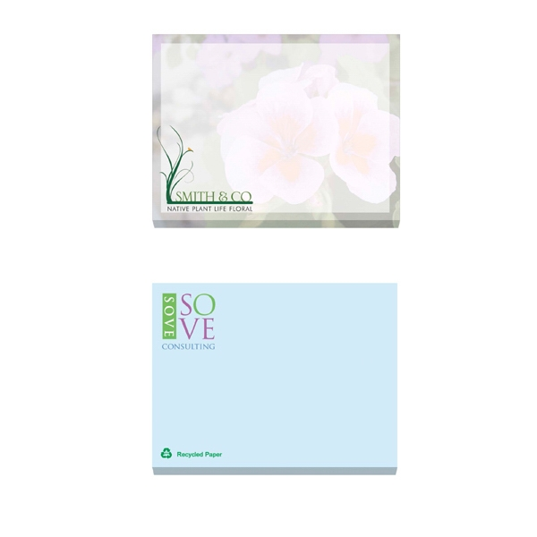 "Ecolutions (r) - 100 Sheets - Adhesive Notepad, 4"" X 3"". Contains 30% Post-consumer Recycled Fiber Photo"