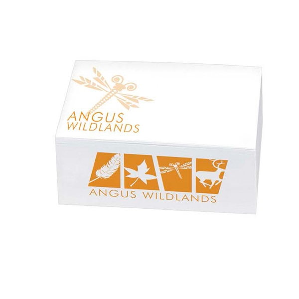 "3"" X 3"" X 1"" - Non-adhesive Notepad Cube. 1-color Imprint At A Budget Price Photo"