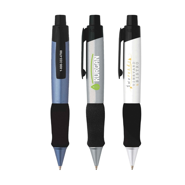 Bic (r)  X  X L - Ballpoint Pen With An Extra Large Profile And A Black Foam Grip And Black Clip Photo