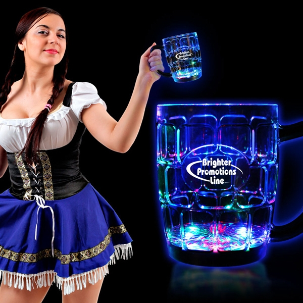 16 oz. MultiColor Flashing LED Glow Drinking Beer Stein