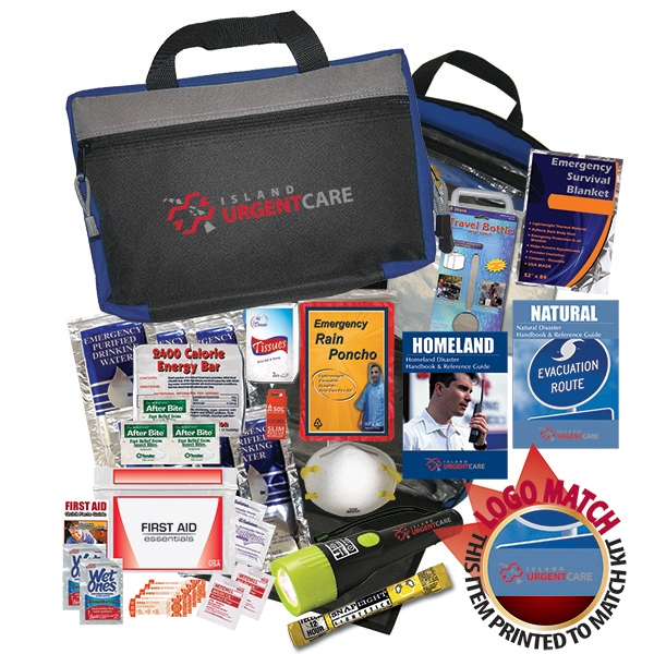 Zippered Disaster Kit Includes A Variety Of Personal And Emergency Items Photo