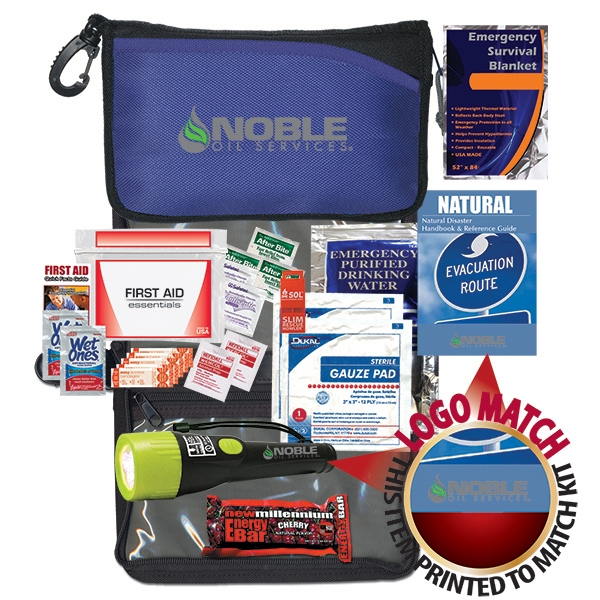 Survival Kit With Flashlight, Respirator, Emergency Blanket And More Photo