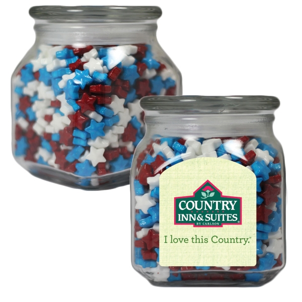 Small Glass Apothecary Jar with Candy Stars