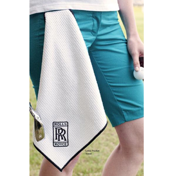 Links Pocket Towel - Big things come in small packages with this microfiber towel in pocket version