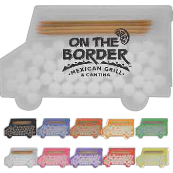 Pick 'n' Mints - Combination Of 10 Toothpicks And 35 Sugar Free Mints In A Truck Shaped Container Photo