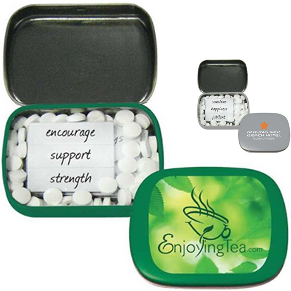 Joy-mints (tm) - Mint Tin With Magnetic Words For Creating Magnet Phrases And 70 Mints Photo