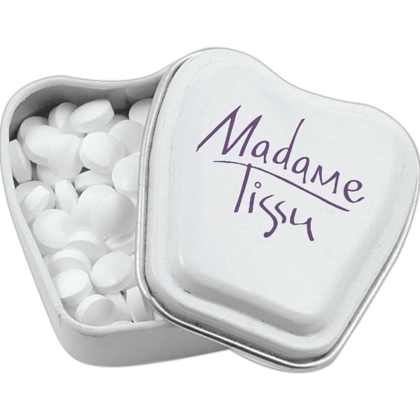 Tooth Shaped Mint Tin Filled With Sugar Free Mints Photo