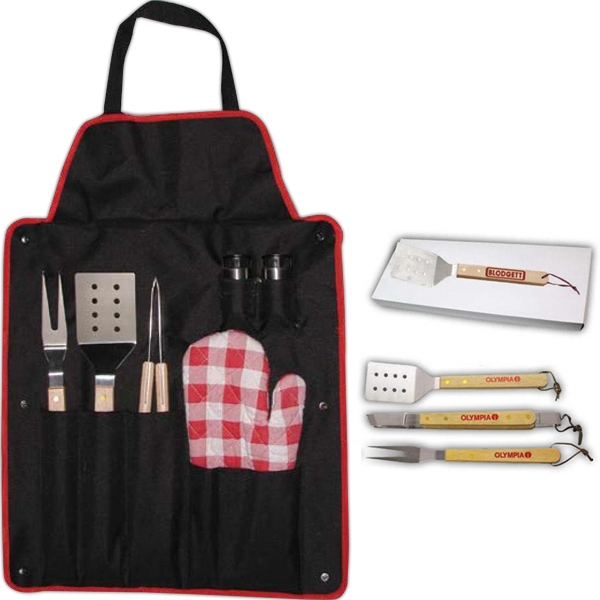 BBQ Set with Fork and Apron