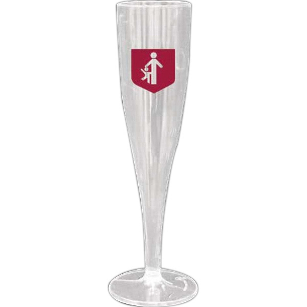 Partyline - Clear Plastic Champagne Glass Photo