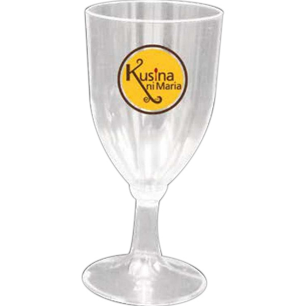 Partyline - Clear Plastic Wine Glass Photo