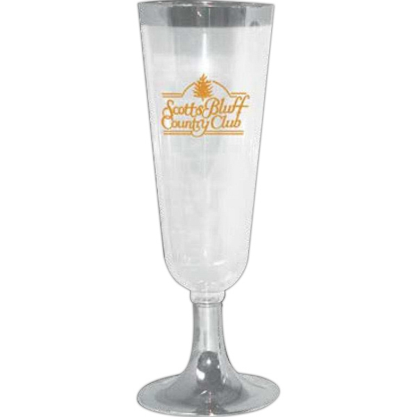 Partyline - 5 Oz. 2 Pc. Clear Plastic Champagne Glass Photo
