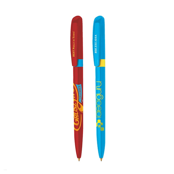 Bic (r) Pivo (r) - Twist Action Ballpoint Pen With Colored Ring And Sleek Slim Profile Photo