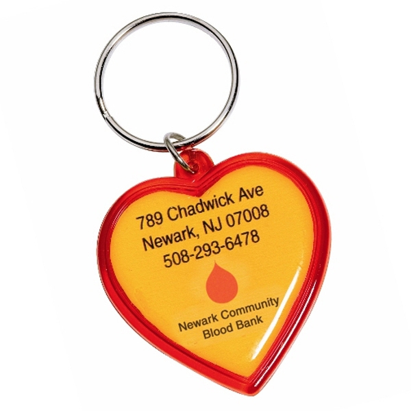 Heart Shaped Acrylic Key Tag
