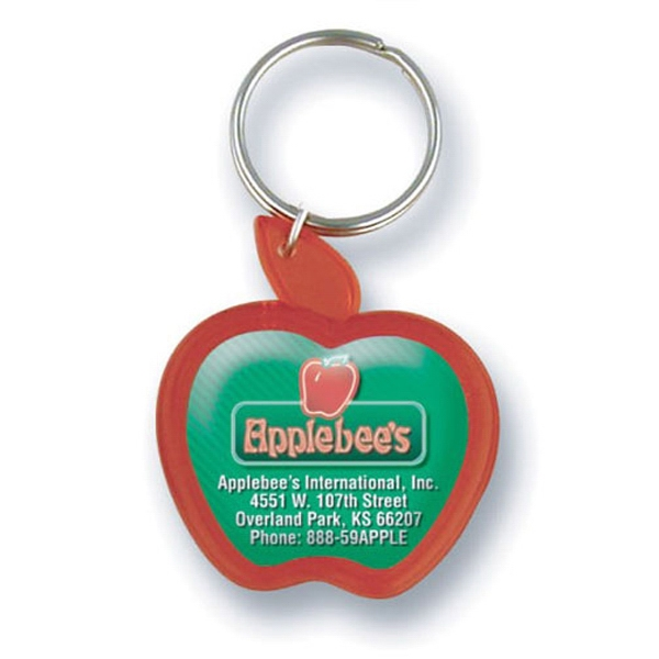 Apple Shaped Acrylic Key Tag