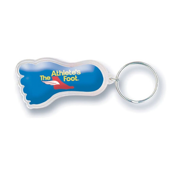 Foot Shaped Acrylic Key Tag