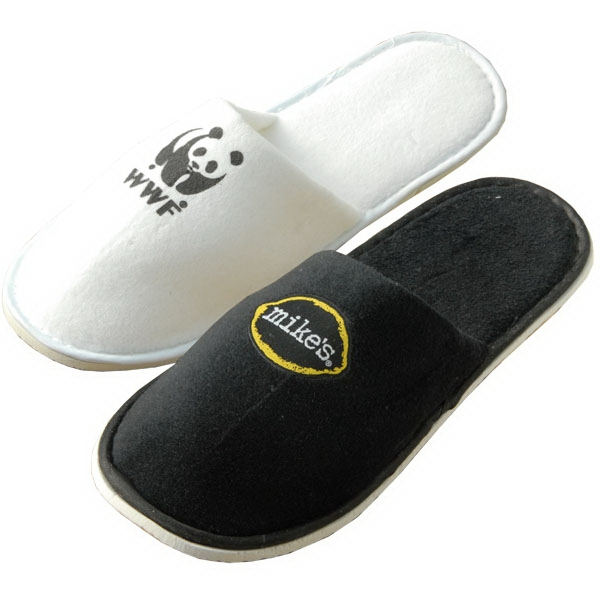 Lightweight And Comfortable Plush Cotton Velour Travel Slippers Photo
