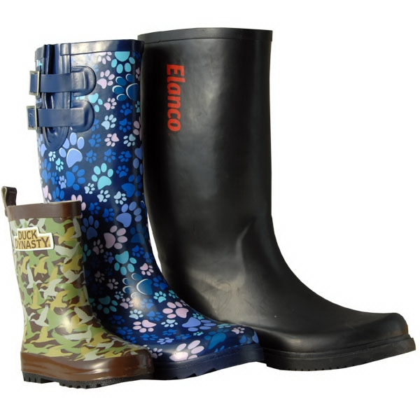 Custom Rubber Rainboots A Non-slip Flexible Sole Photo