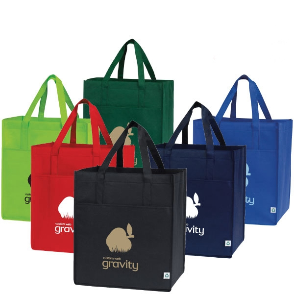 Cyprus - Large Capacity Shopping Tote Bag With Front Pocket. Recyclable Photo