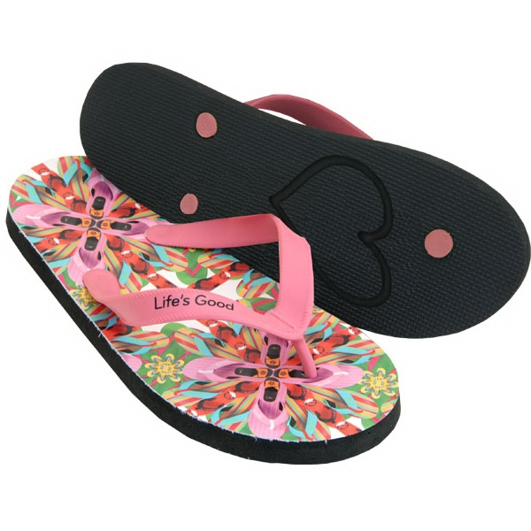 Foto - 15mm Fabric-topped Eva Sole Flip-flops With Rubber Straps Photo