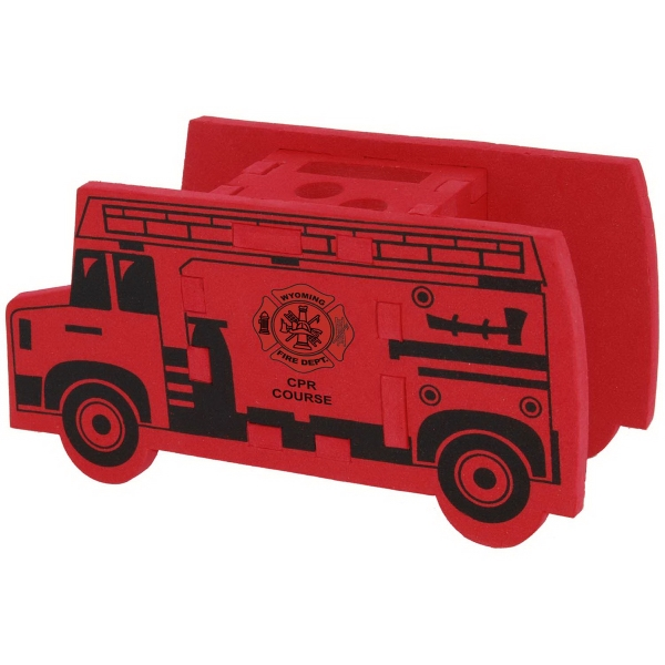 Fire Truck Foam Puzzle Organizer Photo