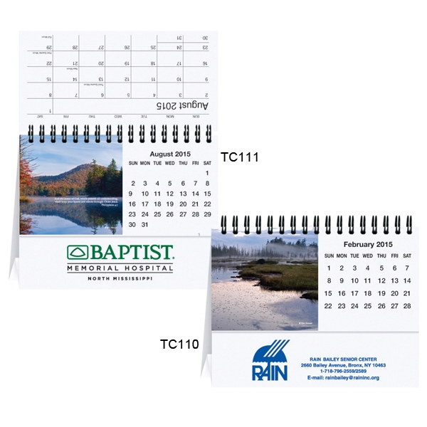 Majestic Outdoors - Tent Desk Calendar With Cover Sheet, Calendar Sheet And Easel Black Photo