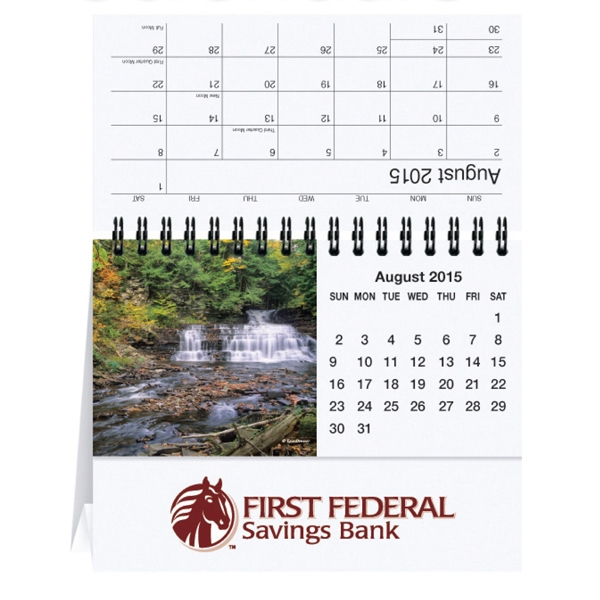 Scenic Waterways - Tent Desk Calendar With Cover Sheet, Calendar Sheet And Easel Black Photo