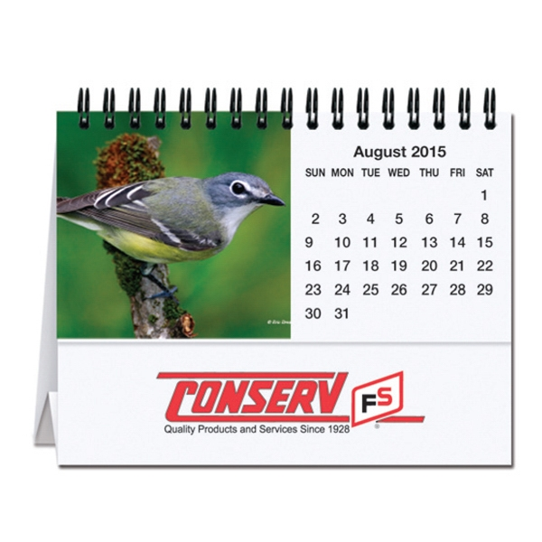 Bird Watching - Tent Desk Calendar With Cover Sheet, Calendar Sheet And Easel Black Photo