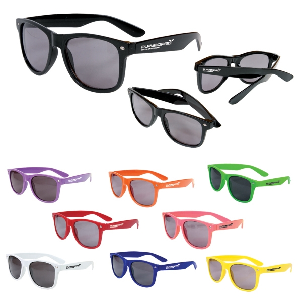 Adult-sized Sunglasses With Glossy Plastic Frames Photo