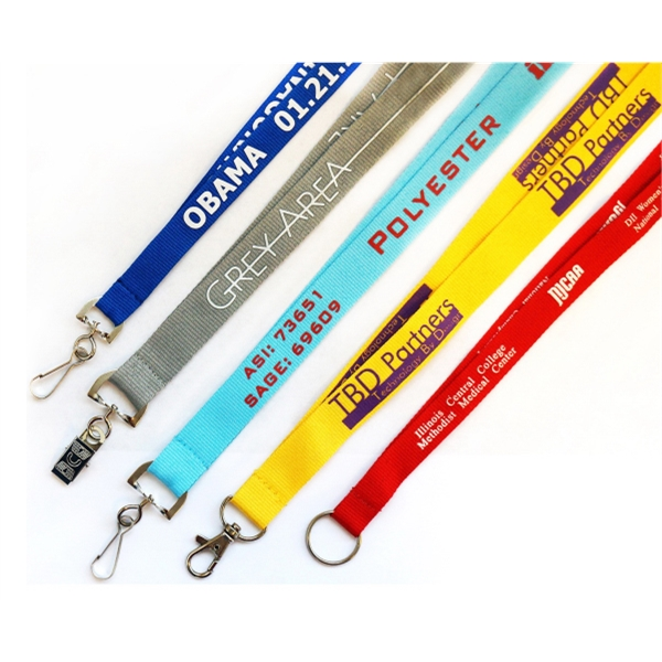 "1/2"" (12mm) Polyester lanyards"