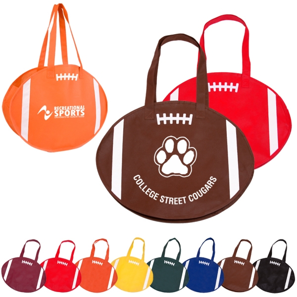 Rallytotes (tm) - Eco Friendly Tote Made Of Durable Nonwoven Poly And Shaped Like A Football Photo