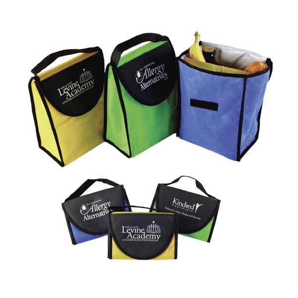 Kool Tote - Foldable, Vinyl/non-woven Insulated Lunch Bag With Velcro Closure Photo