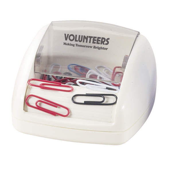 Paper Clip Dispenser With Clips. Closeout Photo