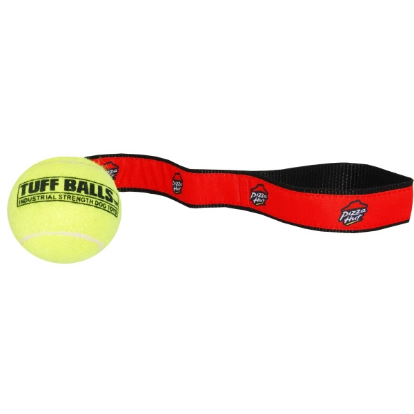 Woven Strap Tennis Ball Dog Toy Photo
