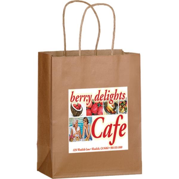 Matte Color Paper Shopper Bag in CMYK - Color Evolution