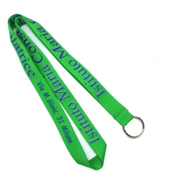 Green Polyester Lanyards