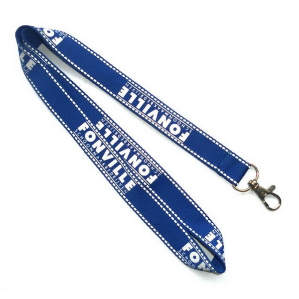 Royal Blue Polyester Lanyards