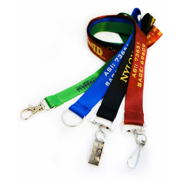 Flat Nylon Lanyards