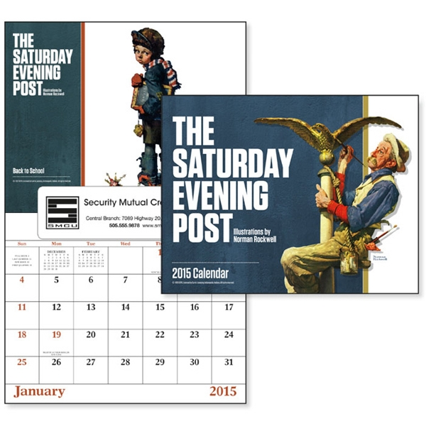 The Saturday Evening Post - 13-month, Window 2015 Calendar With Images By Norman Rockwell Photo