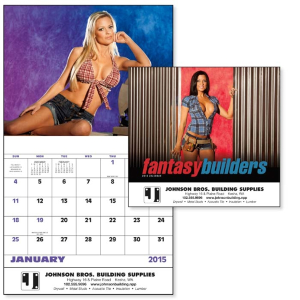 Stapled, 13-month 2015 Calendar With Images Of Fantasy Females Photo