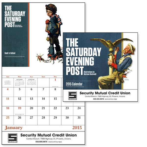The Saturday Evening Post - Stapled, 13-month 2015 Calendar With Covers By Norman Rockwell Photo