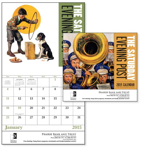 The Saturday Evening Post - Stapled, 13-month 2015 Calendar With Nostalgic Illustrations Photo