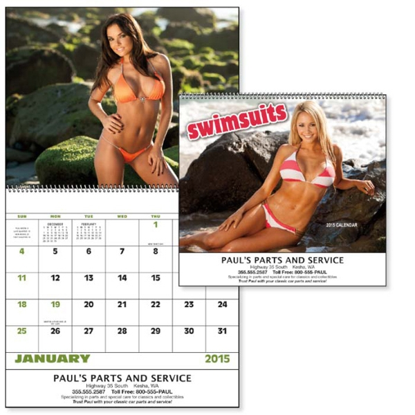Spiral, 13-month 2015 Calendar With Beautiful Photos Of Swimsuit Models Photo