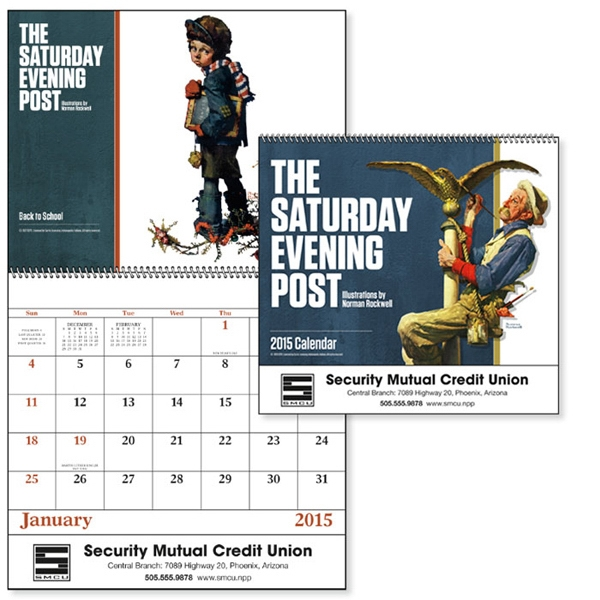 The Saturday Evening Post - Spiral, 13-month 2015 Calendar With Covers By Norman Rockwell Photo