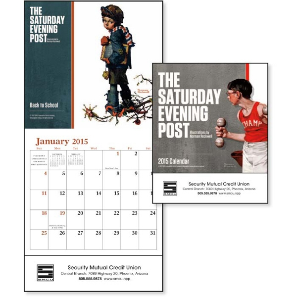 The Saturday Evening Post Norman Rockwell - 2015 Mini, 12-month Calendar Featuring Artwork By Norman Rockwell Photo