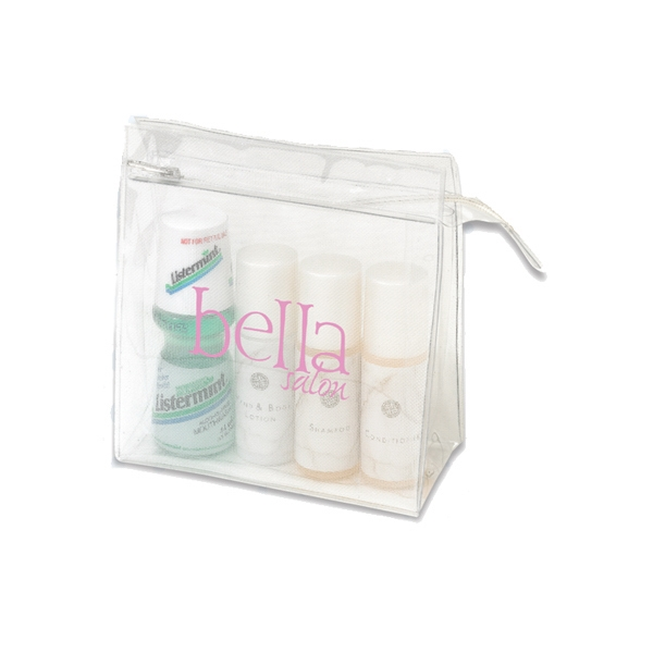 Trendy Clear And Mesh Medium Size Cosmetic Bag Photo